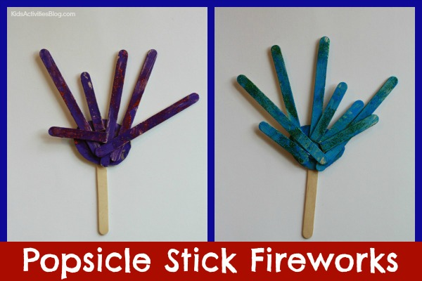 Fourth of July Crafts for Kids: Make Popsicle Stick Fireworks!