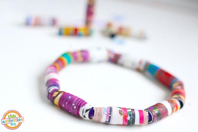 Magazine bracelets and magazine beads