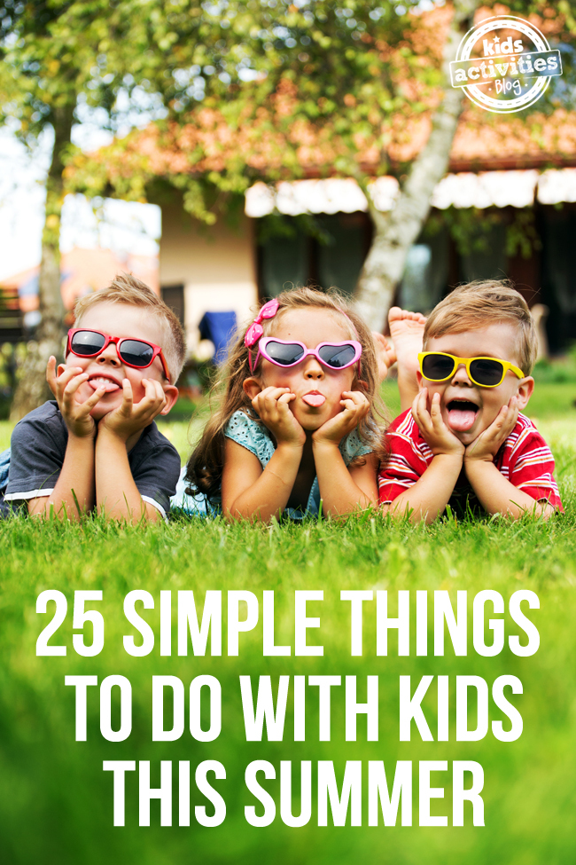 simple activities for kids this summer