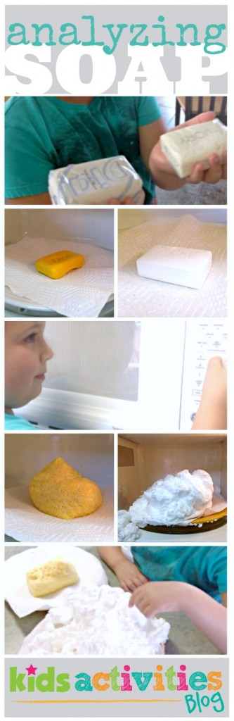 Compare and contrast microwave soap experiment for kids is lots of fun