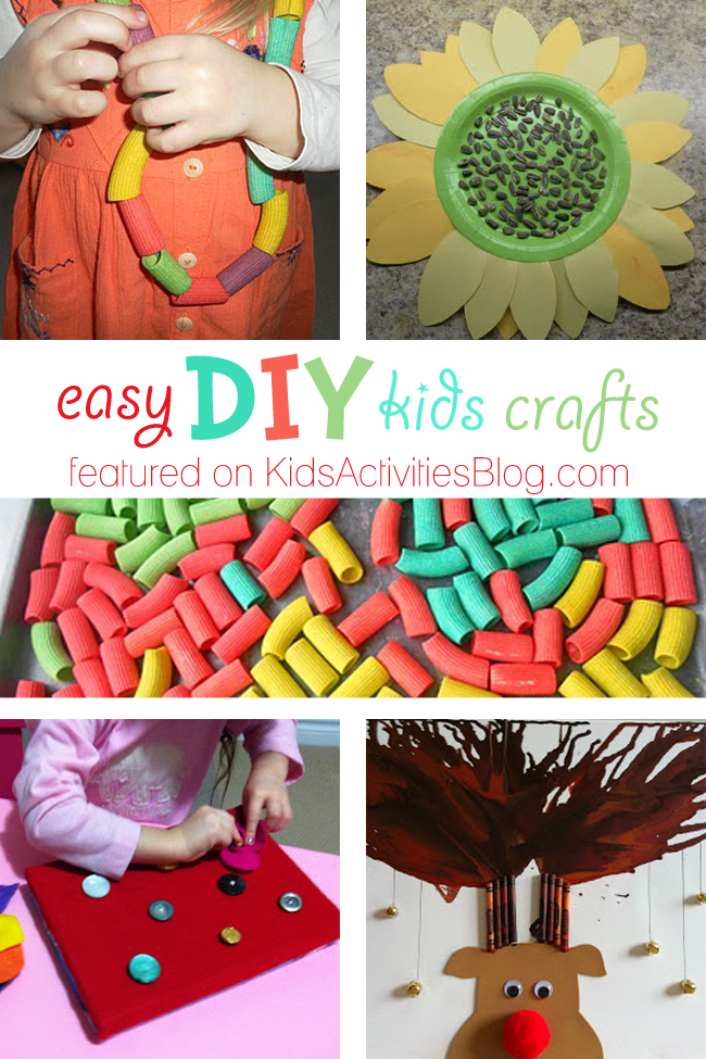 5 easy diy kids crafts simple things to do at home for Easy and fun diys to do at home