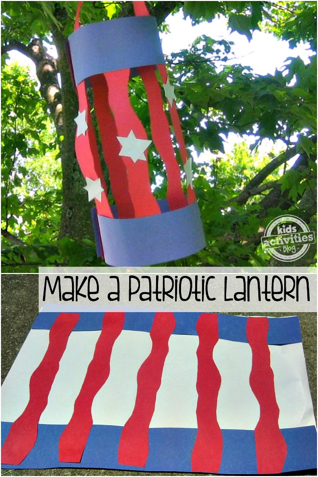 Make a patriotic lantern for Americana crafts to make