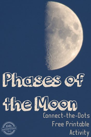 phases of the moon connect the dots activity from kids activities blog