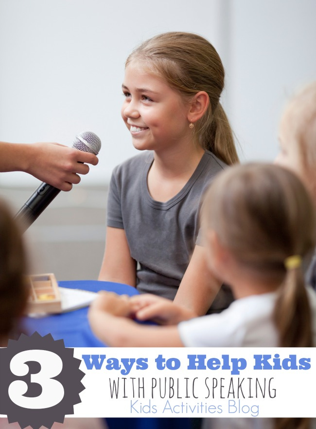 3 ways to help kids with public speaking - Kids Activities Blog