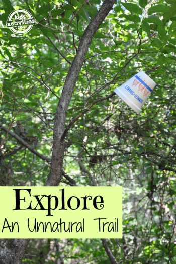 Explore an unnatural trail {Nature activities for kids}