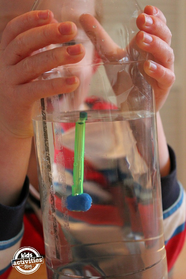how to demonstrate air pressure with a water bottle for kids