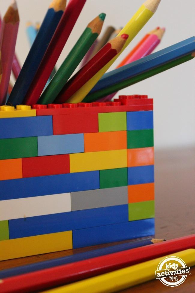 Lego pencil holder