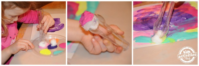 Painting activity for preschoolers {Builds fine motor skills}