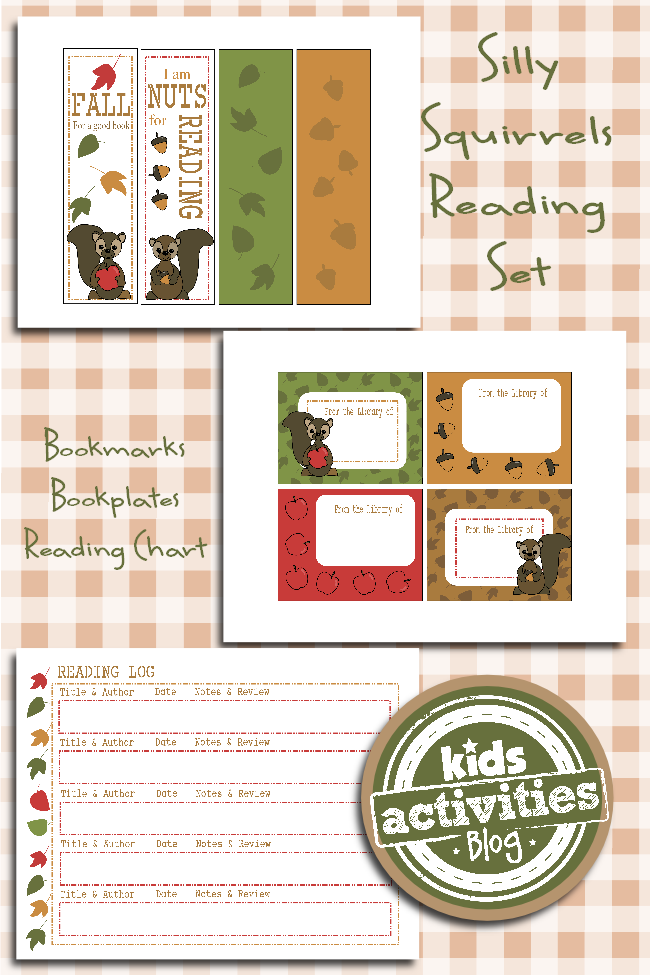 Printable Reading Set For Kids Fall For A Good Book