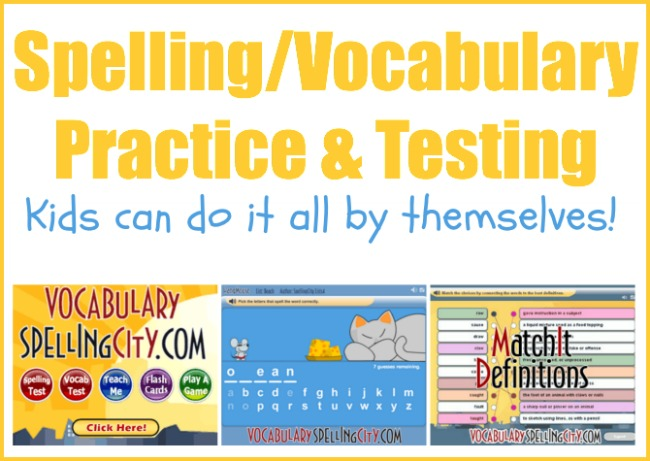 Spelling and Vocabulary Practice that Kids can do by themselves on Kids Activities Blog