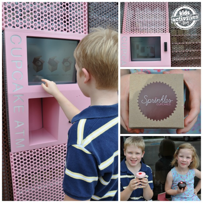 Yummy fun at Sprinkles Cupcake ATM in Dallas
