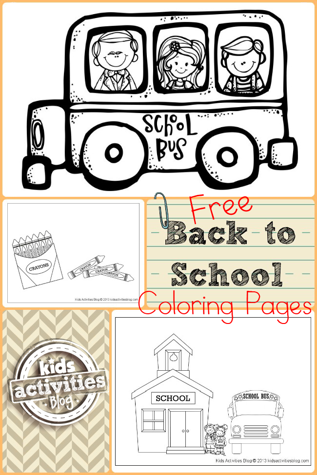 Free back to school coloring pages for Back to school coloring pages free printables