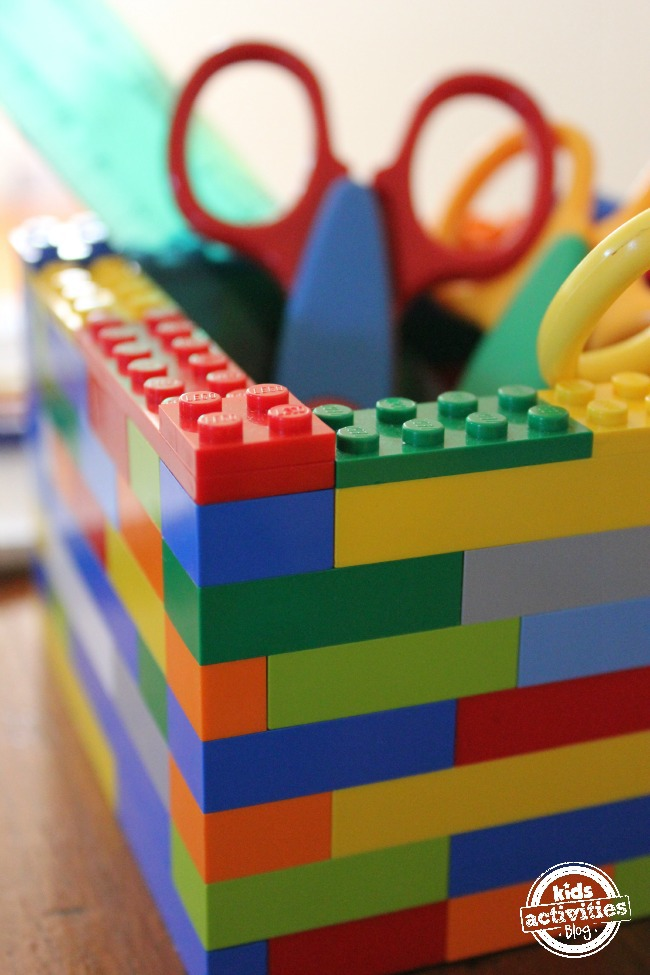 desk organizer made from lego