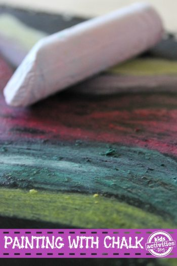 Paint with Chalk and Water - Kids Activities Blog