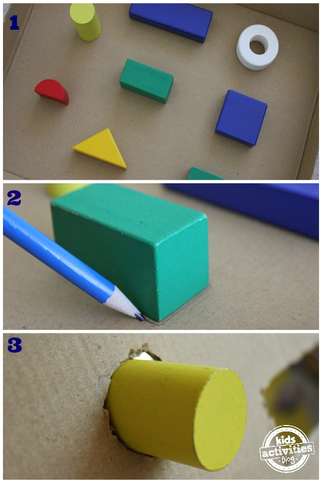 Make a shape sorter for toddlers