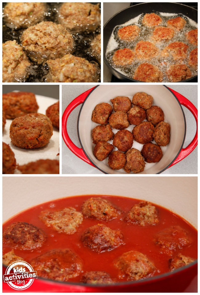 Meatless Ball Recipe frying and baking - Kids Activities Blog