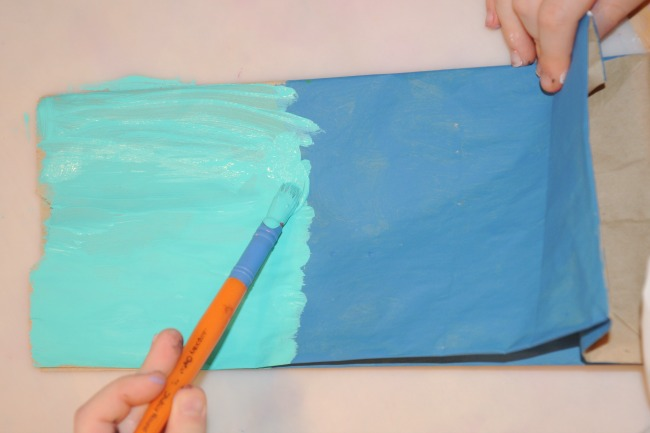 Painting paper bags