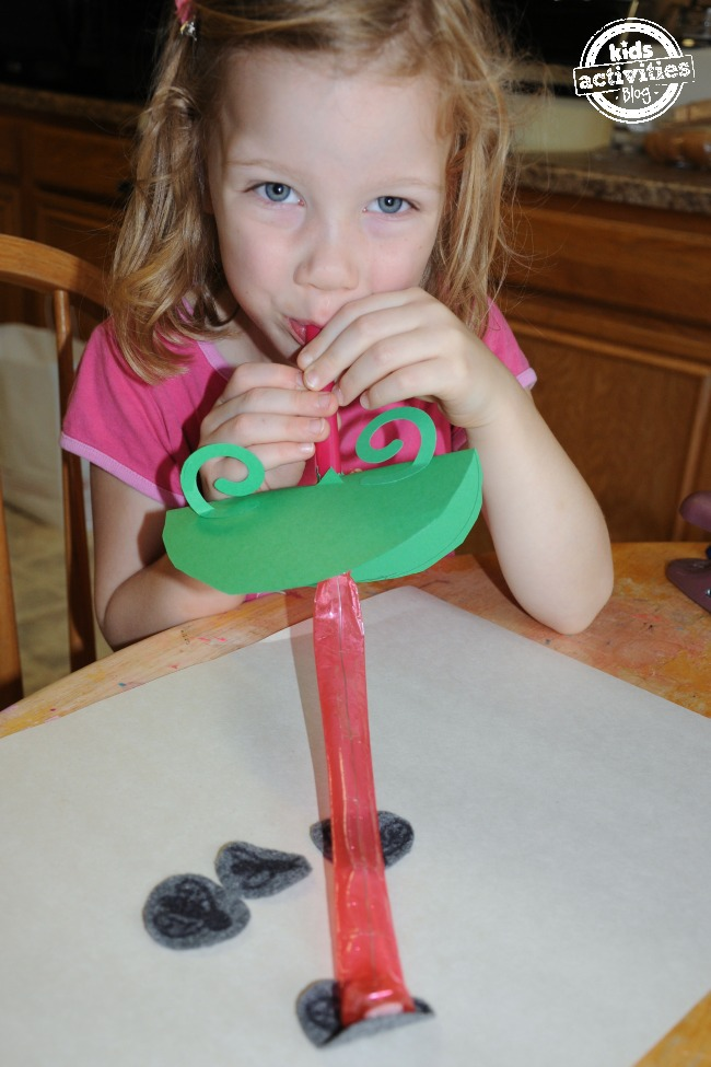 Sticky Tongue Frog Craft