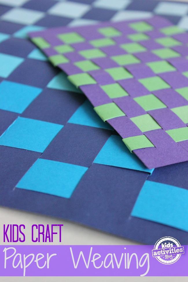 paper weaving for kids