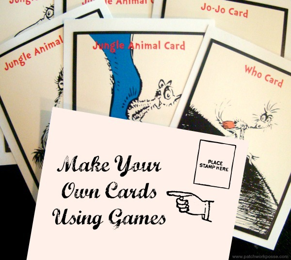 Upcycle Old Board Games Make Your Own Card