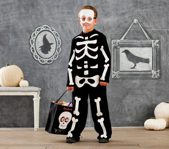skeleton bone costume for kids
