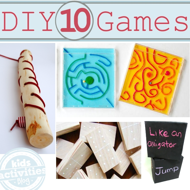 10 games to make and play with kids - they will lvoe them, great gift ideas!