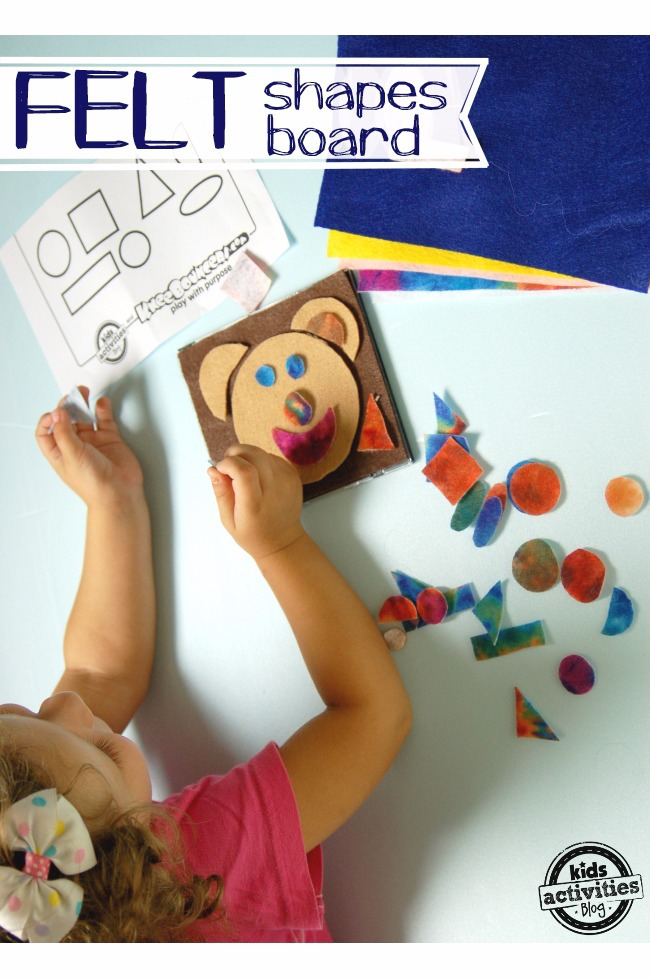 Felt Shapes Board for Kids featured on Kids Activities Blog