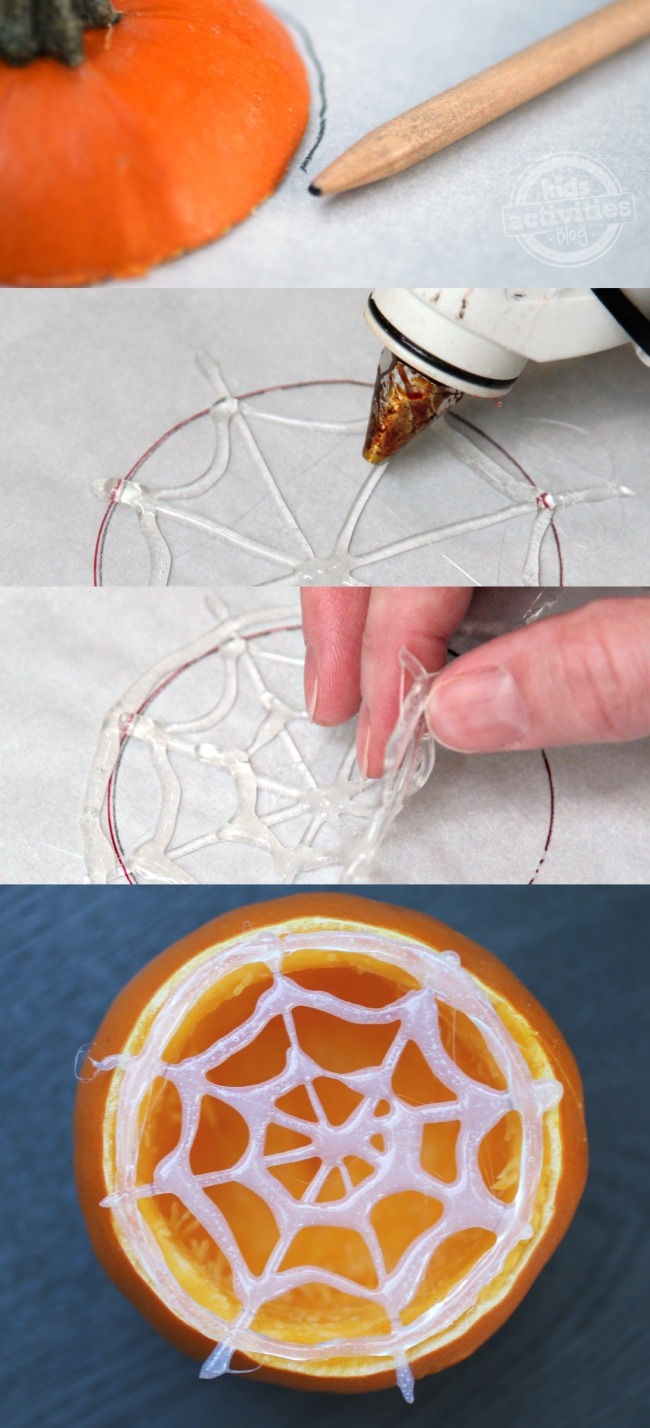 How to Make a Spider Web Jack-O-Lantern