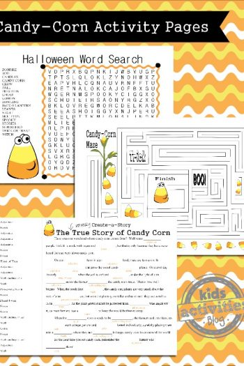Printable Halloween Games for Kids Candy Corn Themed