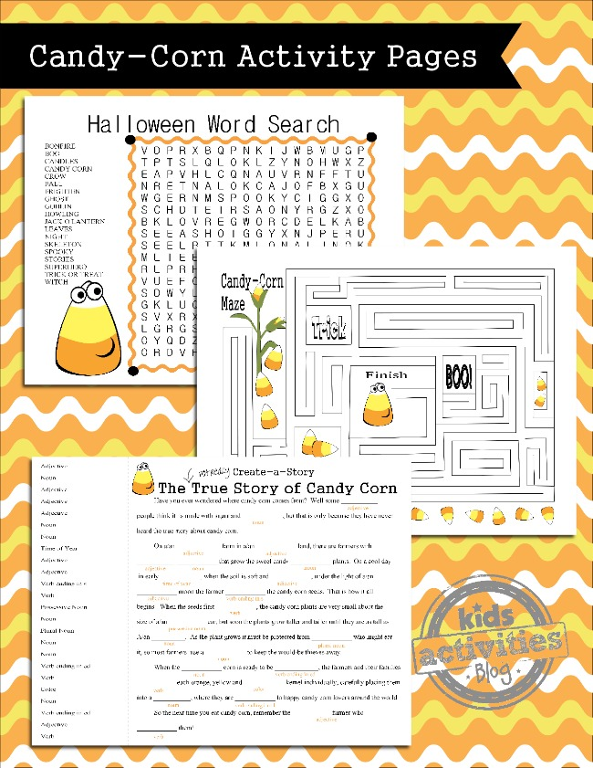 photograph relating to Printable Holloween Games identify Printable Halloween Game titles for Little ones Sweet Corn Topic