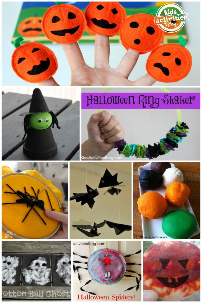 These 5 Little Pumpkins finger puppets are perfect for some playful  Quick Halloween Crafts For Preschoolers
