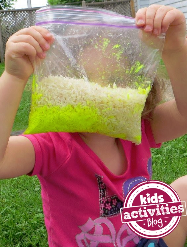 Make Neon Rice - it glows with a black light!