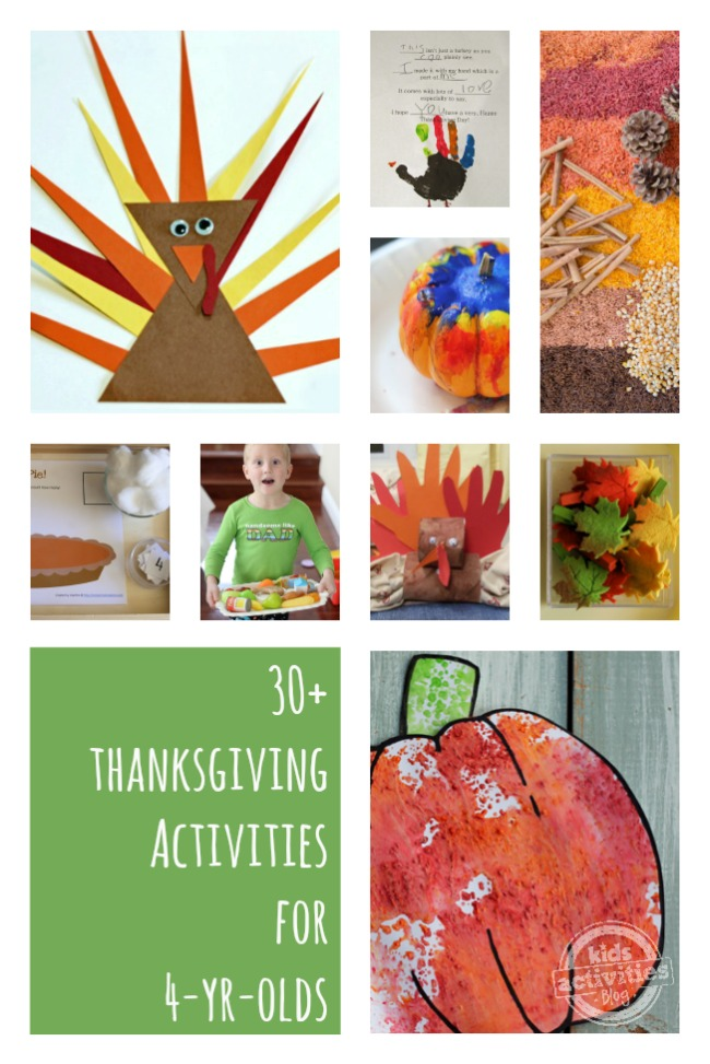 30 Thanksgiving Activities For 4 Year Olds