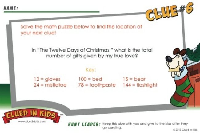 Clued In Kids Treasure Hunt Clue 6 - Kids Activities Blog