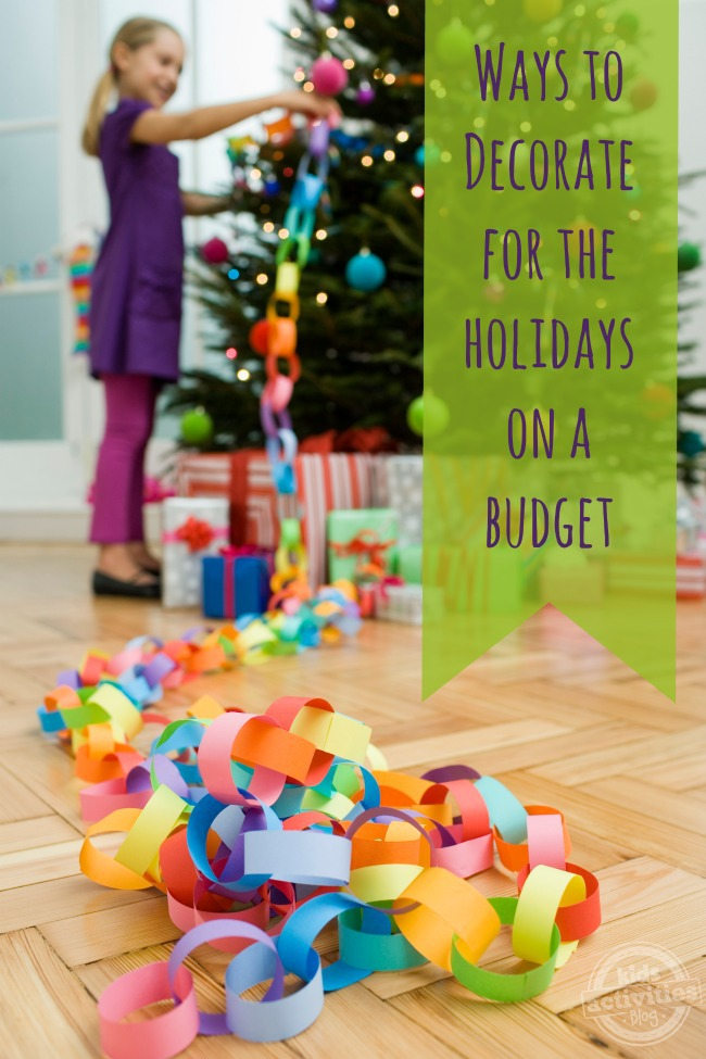 lots of festive ways to decorate for the holidays on a budget