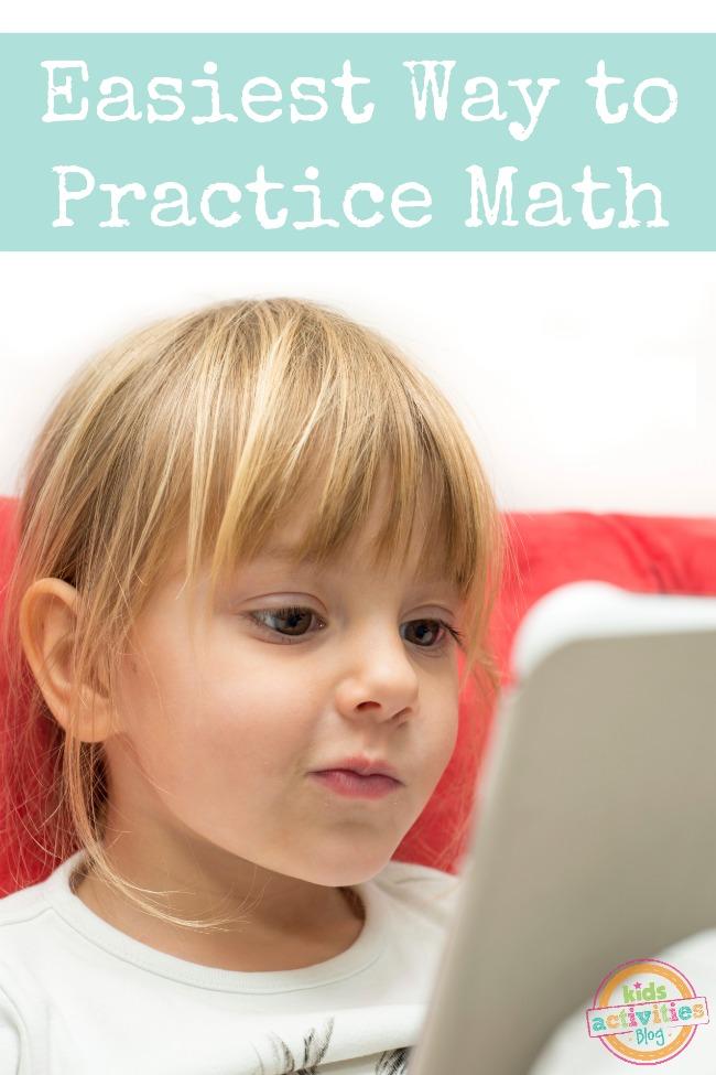 Easiest Way to Practice Math featured on Kids Activities Blog