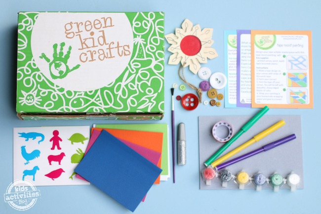 Green Kids Crafts Subscription Craft Box for Kids - Kids Activities Blog