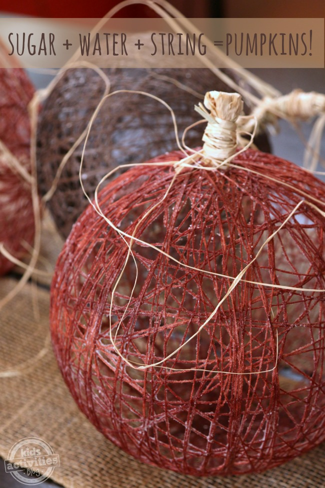 Imperial Sugar String Pumpkins to make with kids - Kids Activities Blog