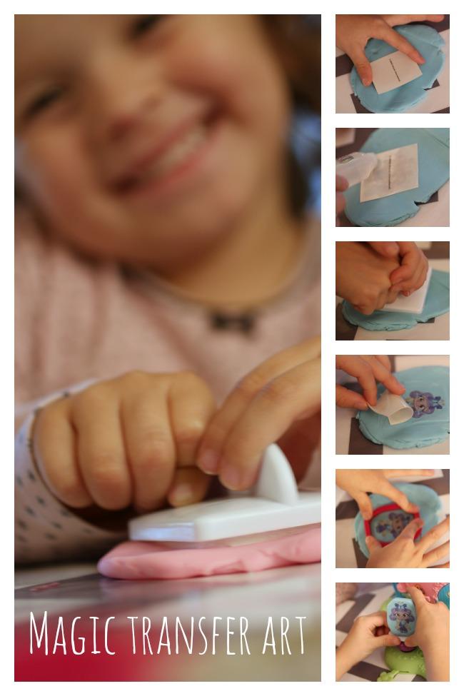 Magic Transfer Art - Magic Fun Dough - Kids Activities Blog