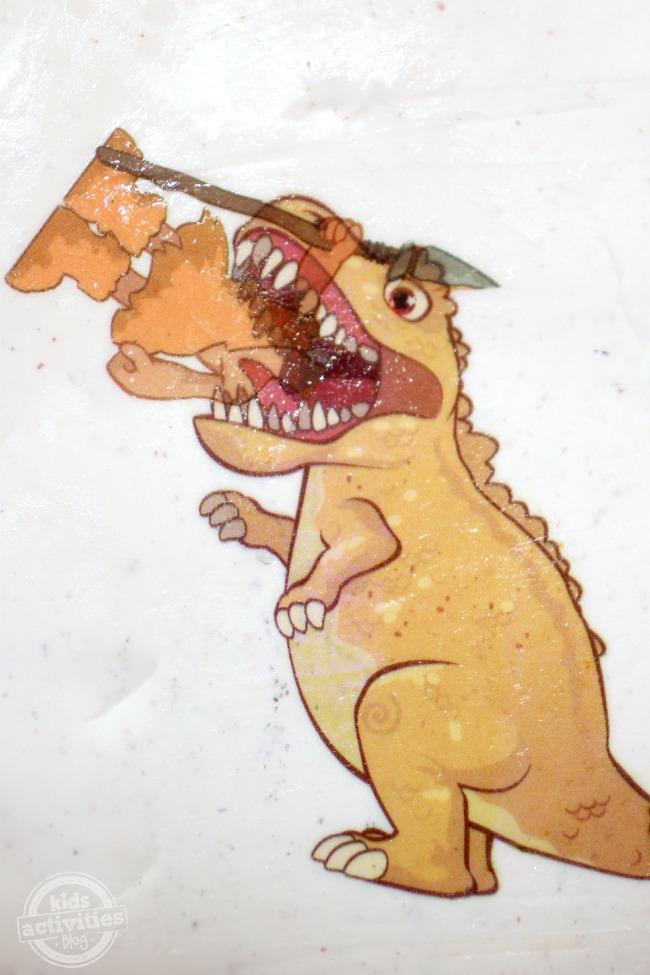 Man Eating Dino Transfer Art Creation