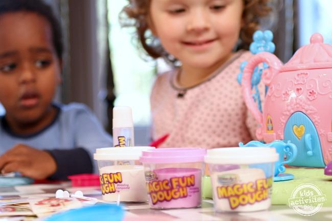 Playing with Magic Fun Dough - Kids Activities Blog