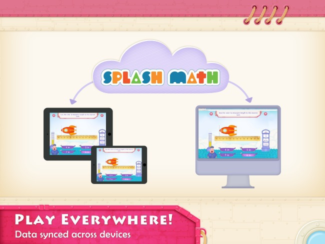 Splash Math syncs across all platforms