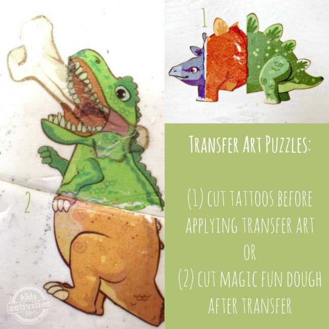 Transfer Art Puzzles with Magic Fun Dough