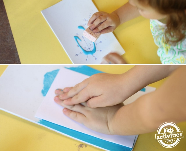 Super simple way to make prints with your kids, using foam and paint.