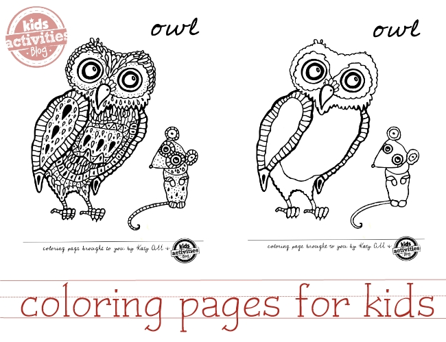 coloring pages of owls for kids to enjoy