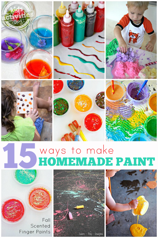 15 {Easy} Homemade Paint Recipes