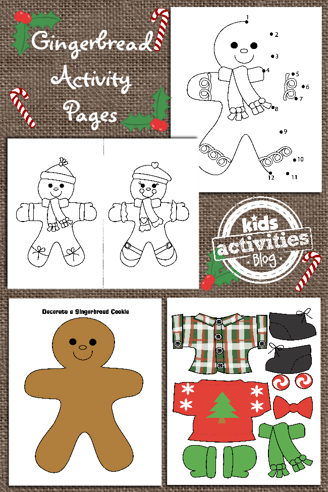 picture about Printable Gingerbread Man referred to as Gingerbread Person Printables for Small children