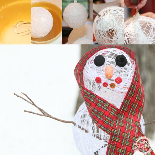 Faire un bonhomme de neige en sucre - Blog d'activités pour enfants