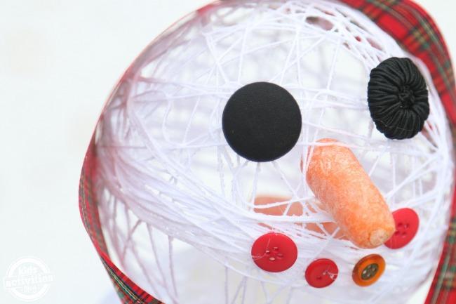 Sugar String Snowman Face - Kids Activities Blog