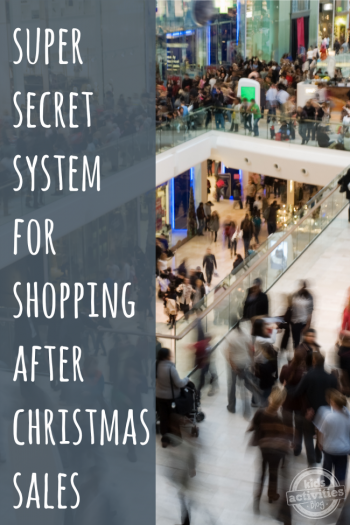 Super Secret System for Shopping After Christmas Sales - Kids Activities Blog